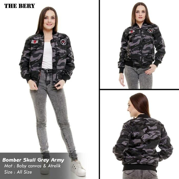 bcb07754f65 Jual jaket army wanita jaket bomber army cewek original jaket loreng ...