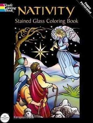 Jual Nativity Stained Glass Coloring Book Kota Bekasi Kerajaan Buku Tokopedia