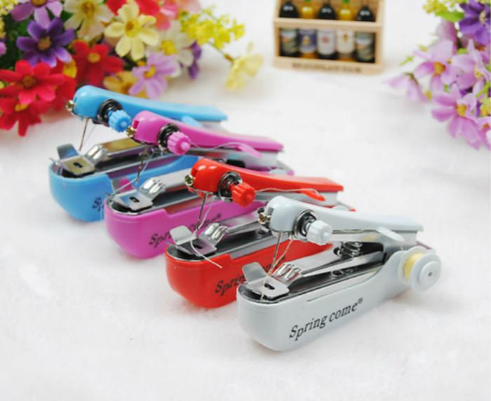 Mesin Jahit Portable Mini / Mesin Jahit Tangan Spring Come - PUTIH