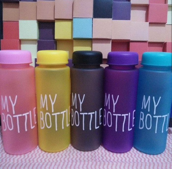 My bottle full color free pouch ,my bottle doff full colors - Biru Muda