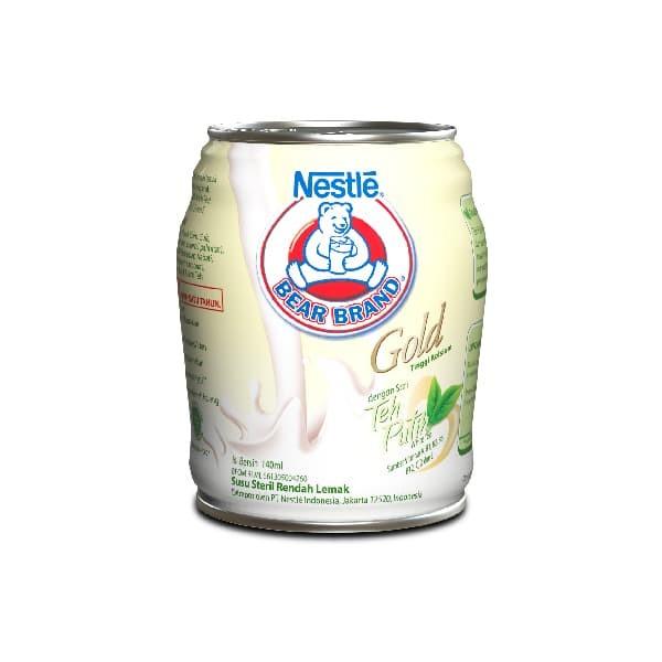 BEAR BRAND Milk White Tea Minuman Siap Minum 140ml [24 Pcs]