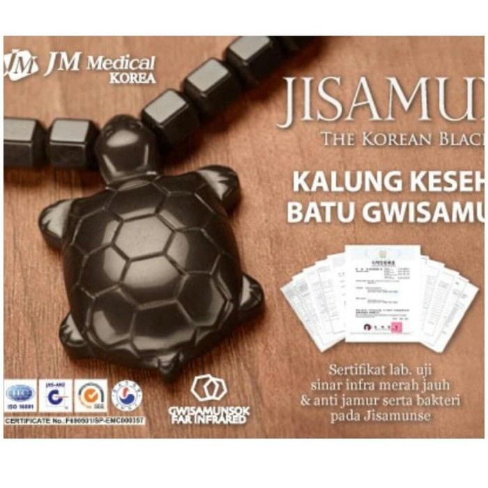 JISAMUNSE Kalung Kesehatan JM Medical Made in Korea (Batu Gwisamunsok)