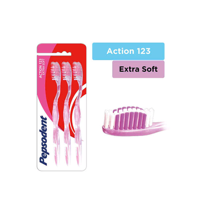 Jual Pepsodent action 123 extra soft multipack isi 3 sikat gigi ... 5483b1777b