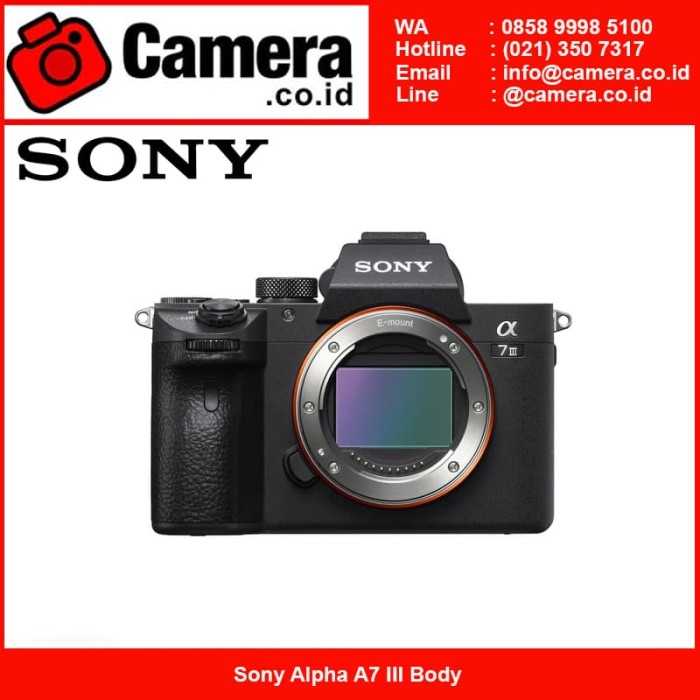 Sony alpha a7 iii body - hitam kamera mirrorless