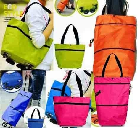 Jual Shopping Trolley Bag Foldable Tas belanja Trolly Bisa di lipat ... 35a10a8c68