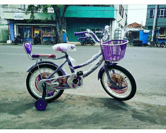 Jual Sepeda Mini Anak Cewek Perempuan Phoenix Super Frozen