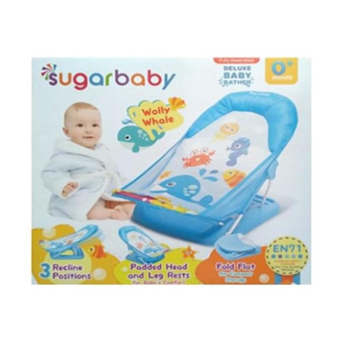 ... SUGAR BABY Deluxe Baby Bather Kursi Mandi Bayi Biru