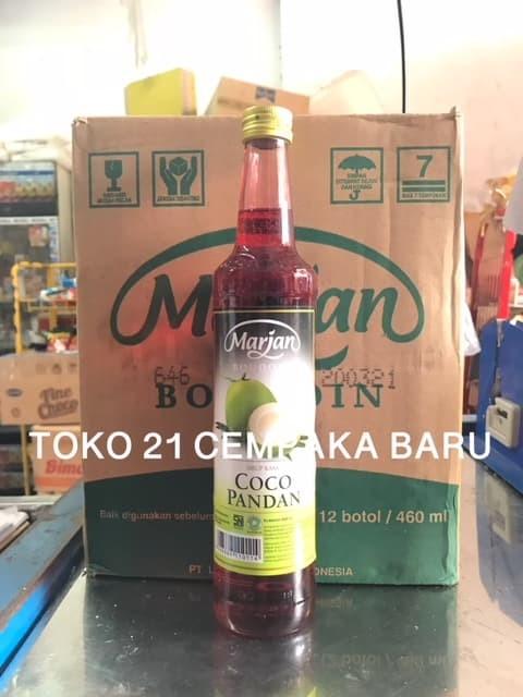harga Marjan boudoin sirup coco pandan 1 karton isi 12 botol   syrup marjan Tokopedia.com