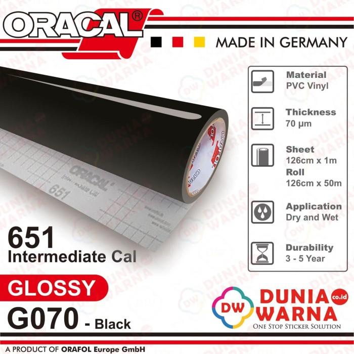 graphic regarding Oracal Printable Vinyl titled Jual Oracal 651 070 Black Gloss/Matte(Doff) Meteran - DKI Jakarta - Dunia Warna Stiker Tokopedia