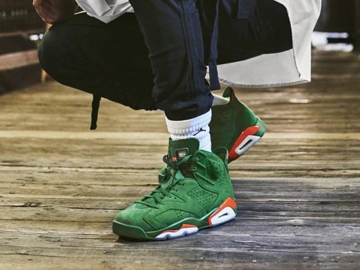 056a65ce67a Jual Nike Air Jordan 6 Retro Gatorade Green Sneakers Sepatu Pria ...