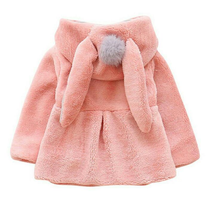 jaket anak /mantel hoodie motif telinga kelinci