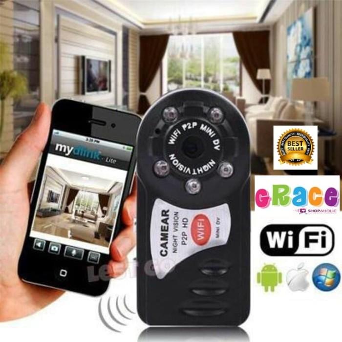 1x HD Q7 Wireless WIFI Mini Hidden Camera P2P DV Video Recorder DVR Night Vision
