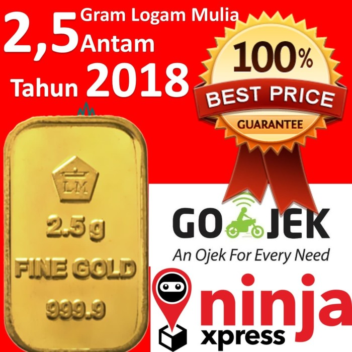 Emas 3 Gram Emas Fine Gold Batangan Logam Mulia Lm Sertifikat Asli