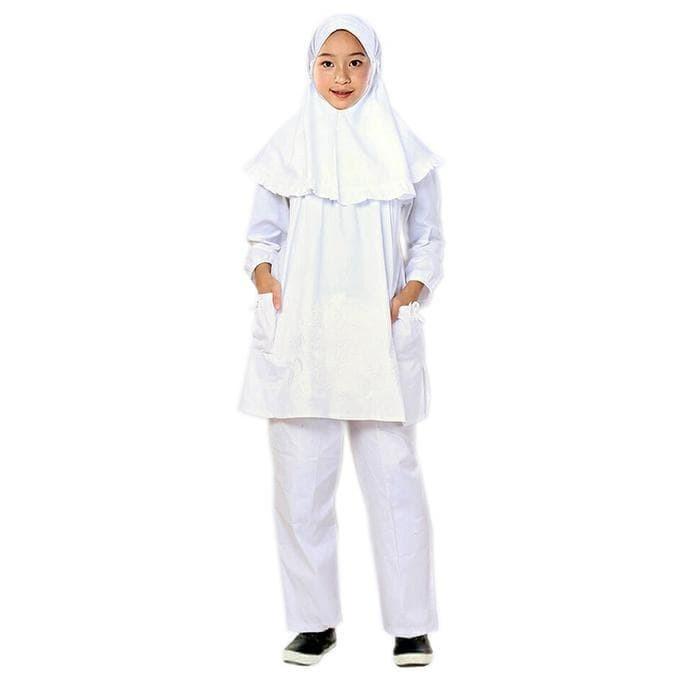 Fayrany Busana Muslim Anak Setelan Celana Putih FCP-002A - Putih