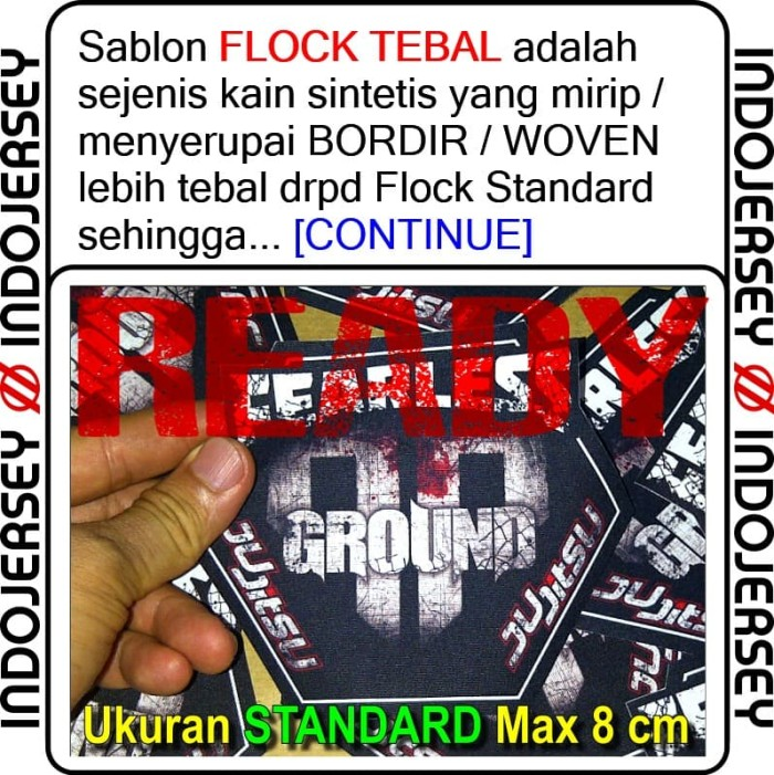 Foto Produk Stiker Baju CUSTOM LOGO FLOCK TEBAL dari Indojersey