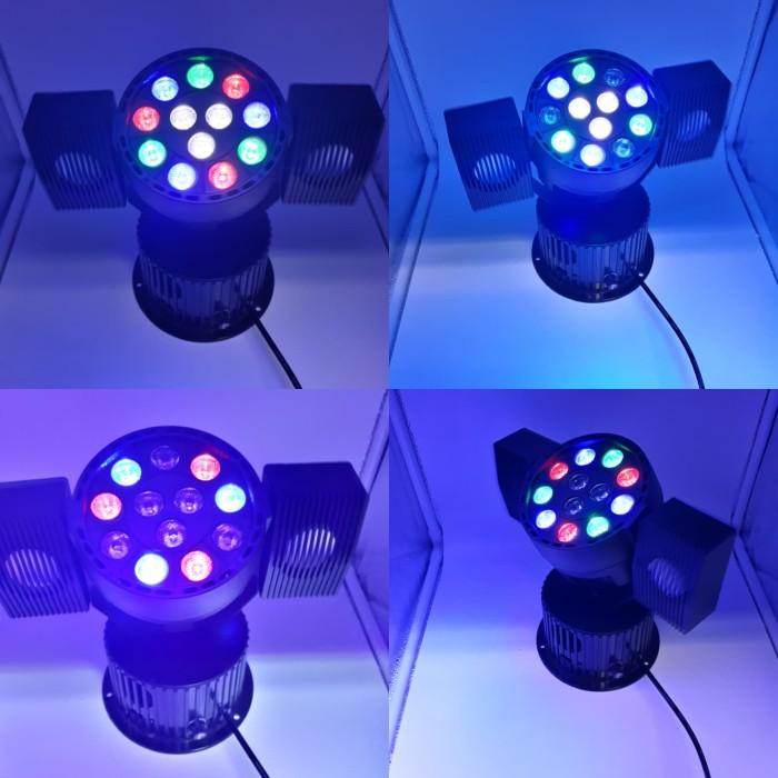 harga Lampu sorot disco led par bluetooth rgb 12 led + speaker subwoofer Tokopedia.com
