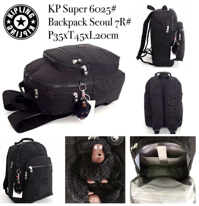 Jual HOT PROMO!!Backpack Kipling 6025  ransel 7ruang - tas kipling ... 6151961b6c
