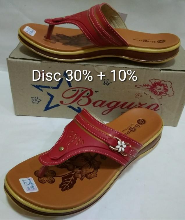 ... harga Sandal jepit wanita kulit model sandal fladeo merk baguza red  Tokopedia.com c3388ac313