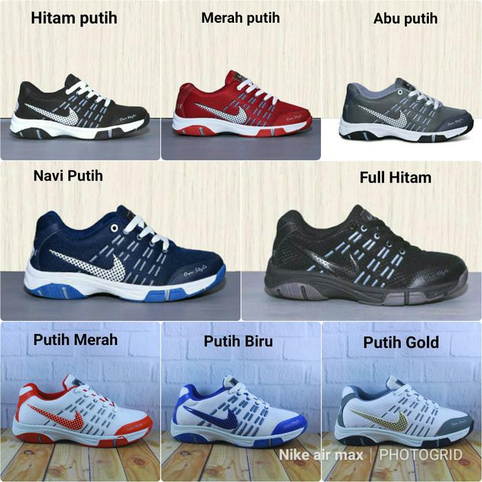 sepatu nike badminton sneakers running fashion baju lari wanita pria