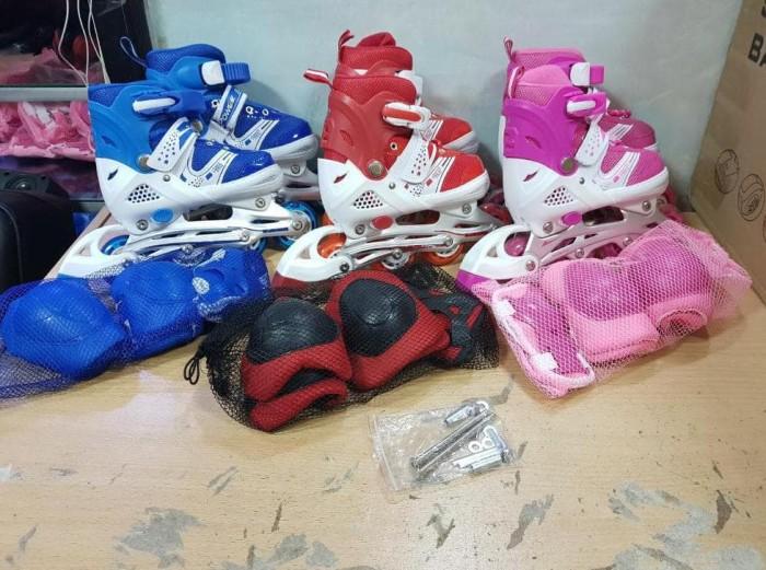 Jual Sepatu Roda Anak Power Inline Skate Bonus Dekker Fullset ... 2a1c0db7a1