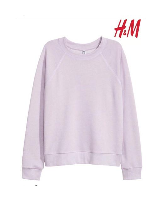 SWEATER MURAH Sweater HnM H&M Lavender Basic Sweatshirt Original