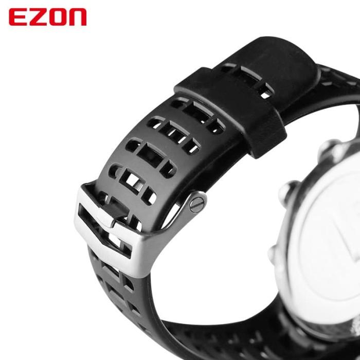 PJT87 EZON Olahraga Menonton Asli Tali Silikon Karet Gelang Jam untuk