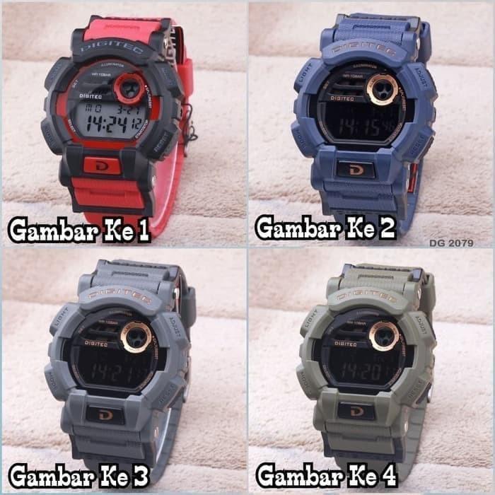 Jam Tangan Pria / Digitec Original DG-2079 + Free Batre Cadangan -