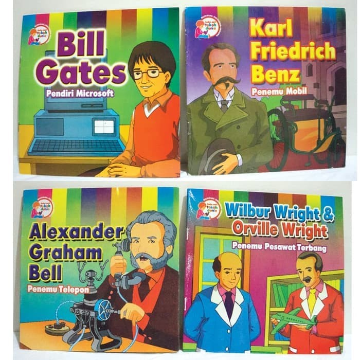 Buku Seri Tokoh Dunia - Buku cerita anak - dwi bahasa