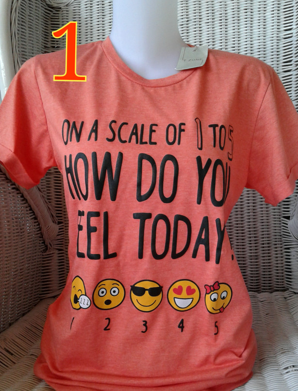 harga Kaos/t-shirt/atasan/baju motif lengan pendek cewe/perempuan