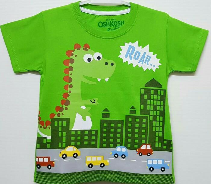 harga Kaos anak karakter kaos anak cowok dinosaurus roar hijau Tokopedia.com