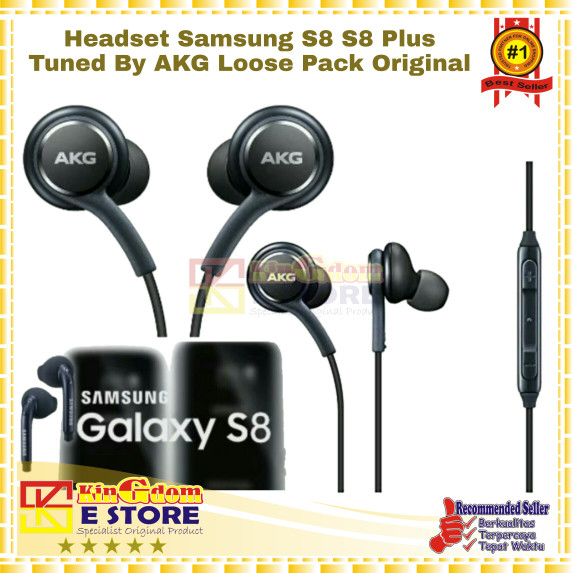 Kingdom 027 Headset Samsung S8 S8 Plus Tuned By AKG Loose Pack Ori 100