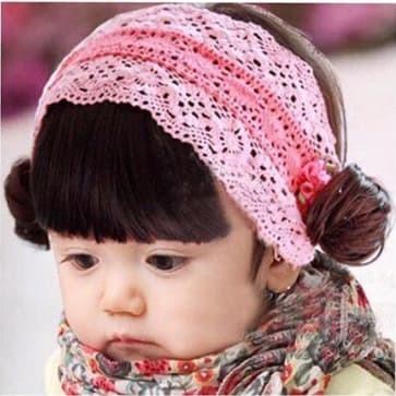 harga Bando wig anak + poni ribbon pink Tokopedia.com