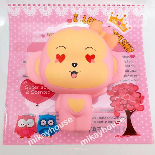 Squishy Murah Pink Cheeka Monkey