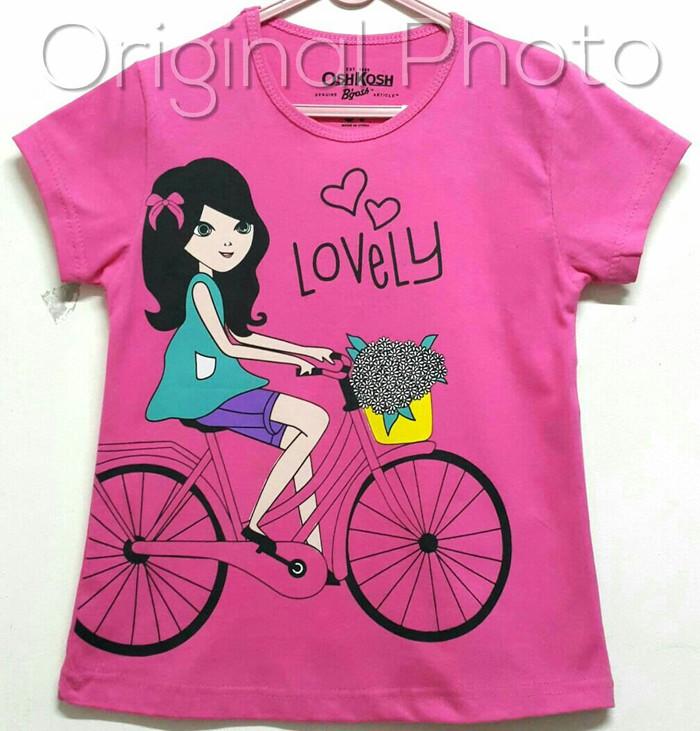 harga Kaos anak size 1-6 oshkosh lovely bunga keranjang sepeda wanita pink Tokopedia.com