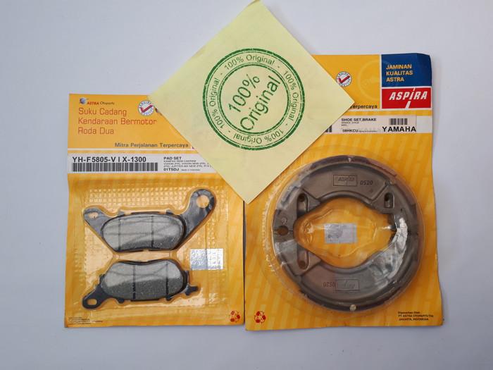 Foto Produk Paket kampas rem depan belakang jupiter mx mio sporty j x ride aspira dari sinar jaya motors