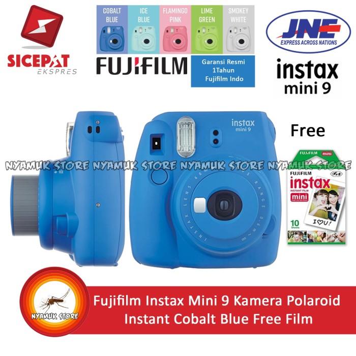 harga Fujifilm instax mini 9 kamera polaroid instant cobalt blue free film Tokopedia.com