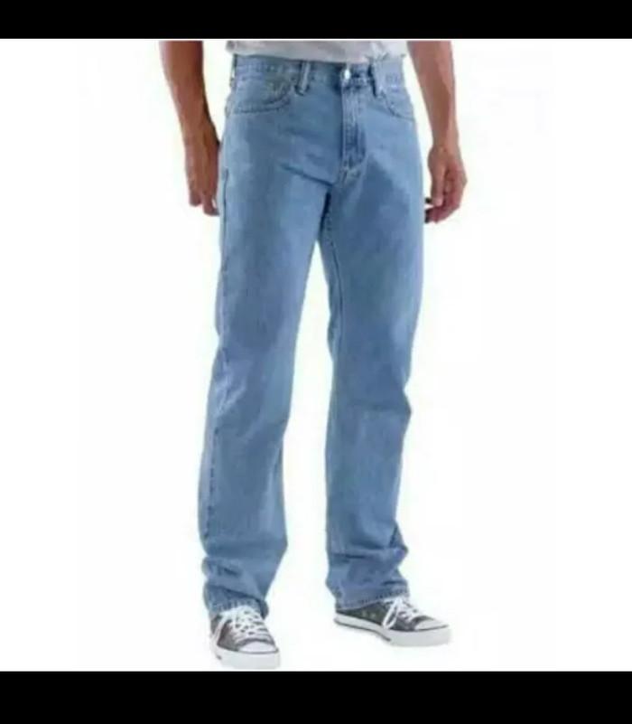 Celana jeans pria jumbo big size reguler fit besar ukuran 38-44