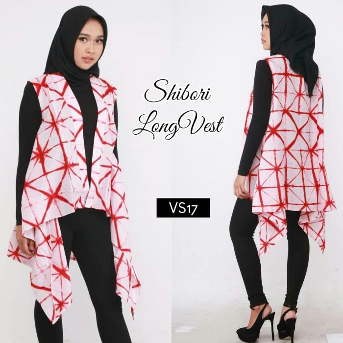 harga Shibori outer #kreasilokal batik outwear long vest tie dye jumputan Tokopedia.com