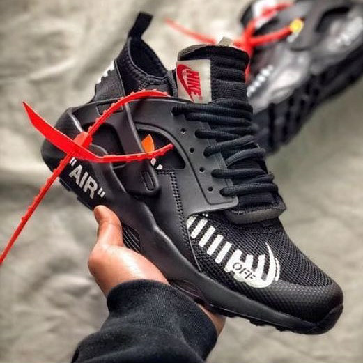 Jual Sepatu Nike Air Huarache Ultra X Off white Triple Black ... 36224d2569