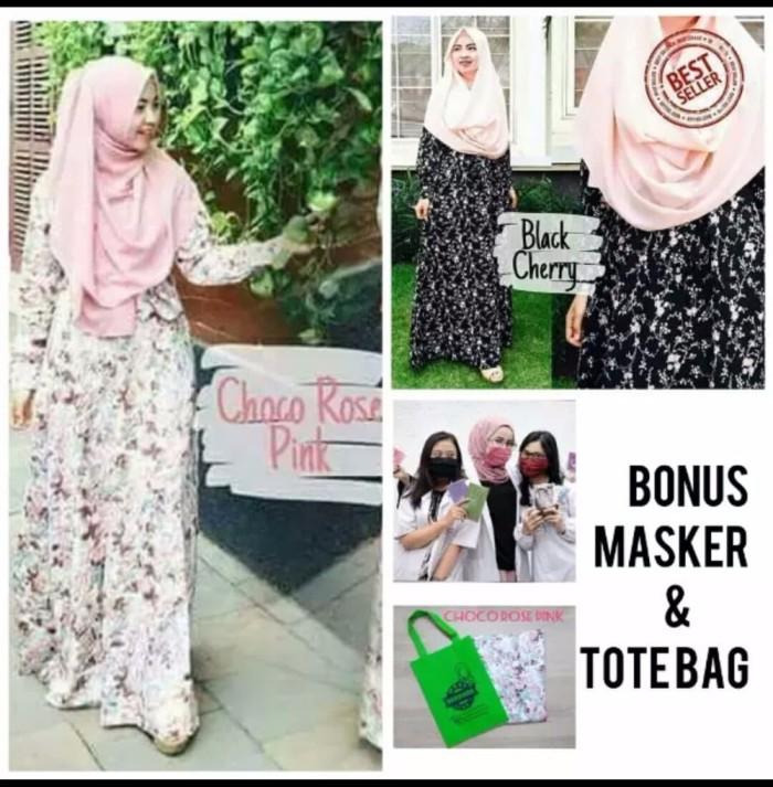 promo murah busana muslim gamis katun jepang baju muslim wanita musli 1