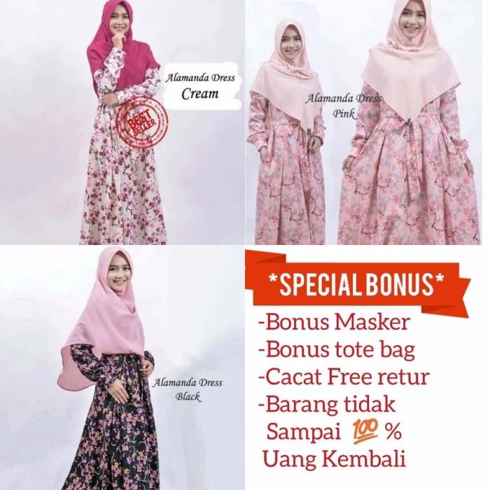 promo murah busana muslim gamis katun jepang baju muslim wanita musli 3