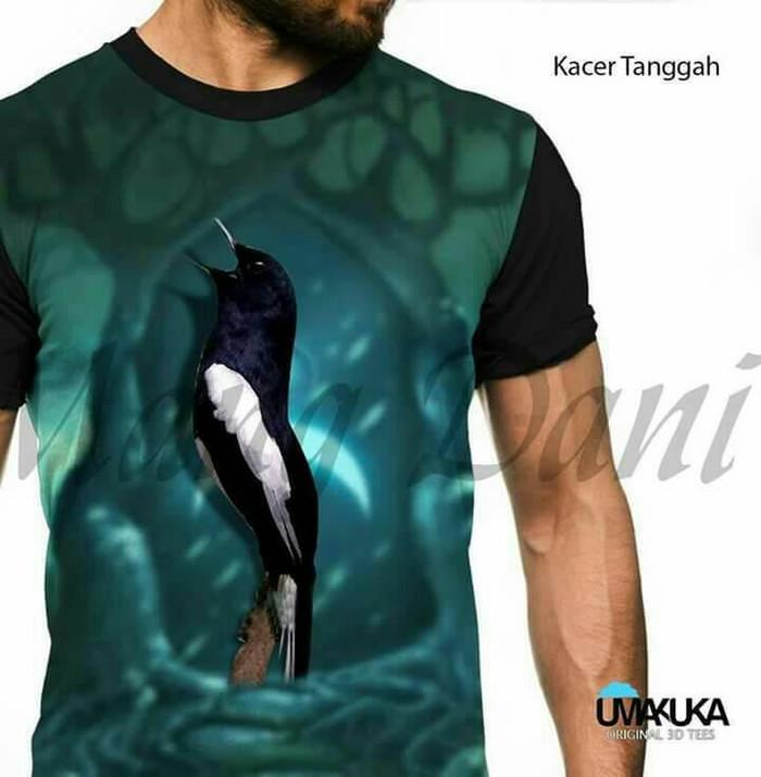 harga Kaos burung kacer tggh-umakuka 3d-kaos polos blkg-kaos lengan panjang Tokopedia.com
