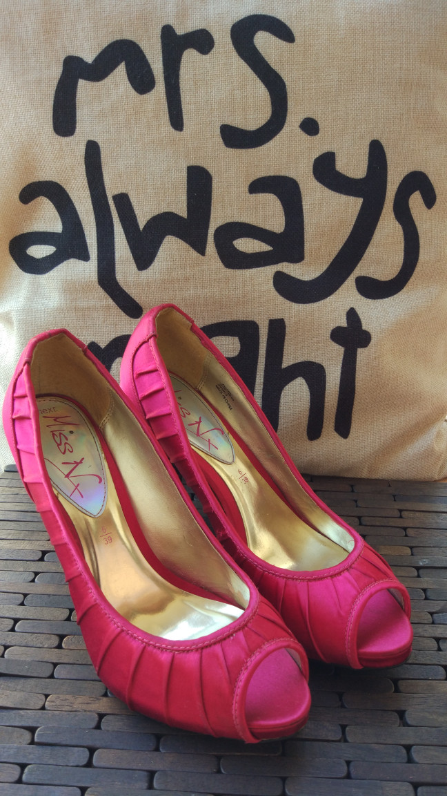 "Foto Produk LIKE NEW, HIGH HEEL ""NEXT"" NO BOX EUROPE ORI ORIGINAL SIZE 40-41 PINK dari GoMaeWo"
