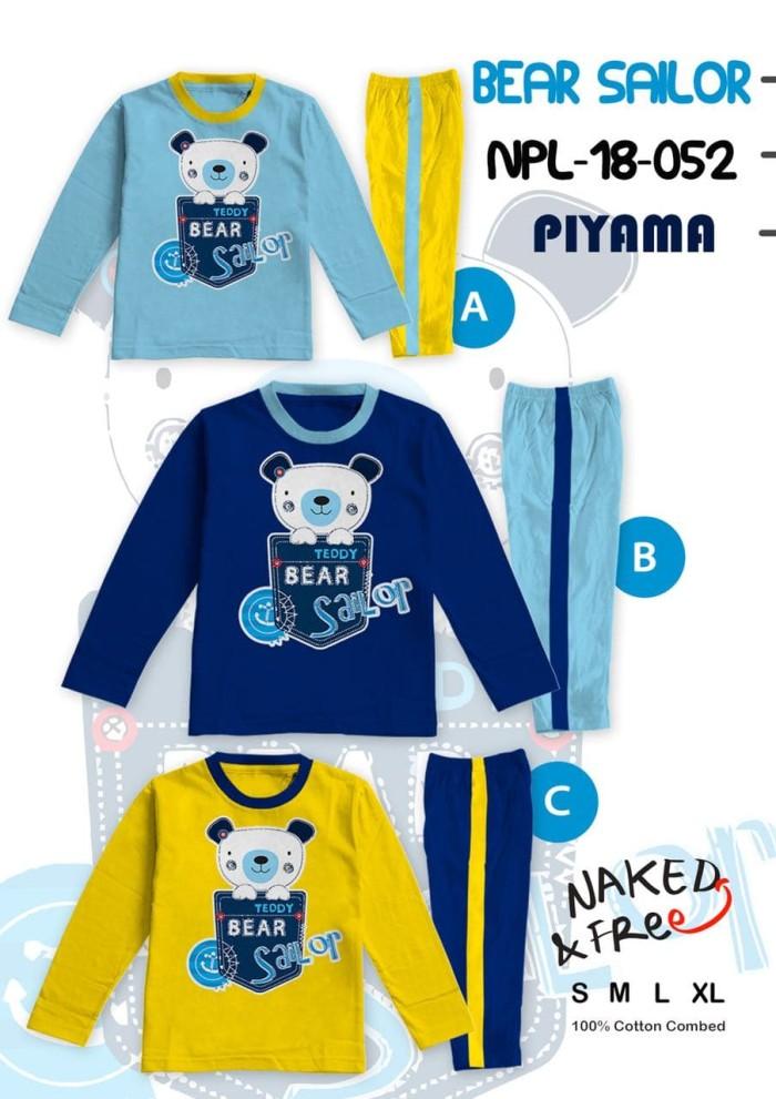 harga Piyama anak / baju tidur anak lakilaki bear sailor 2-8thn bahan katun Tokopedia.com