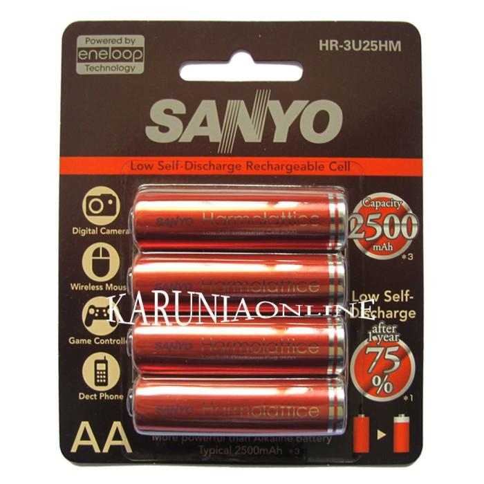 Sanyo Eneloop Harmolattice 4pcs Battery AA 2500mAh Baterai