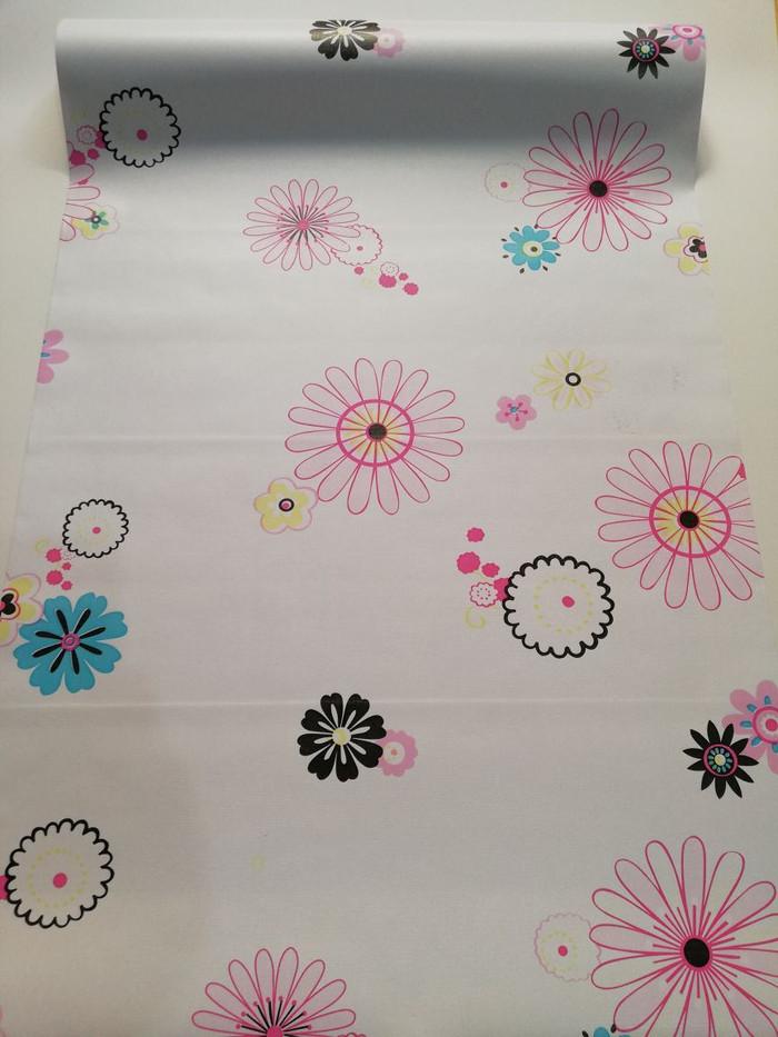 Foto Produk Wallpaper polkadot flower 45 cm x 10 mtr || Wallpaper dinding dari dedengkot wallpaper