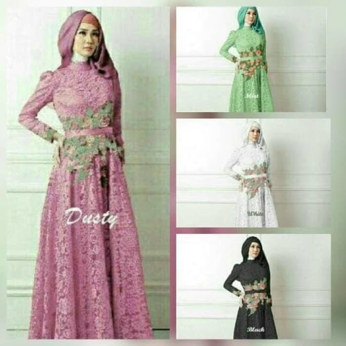 Jual Baju 2018 Gamis Lebaran 2017 Baju Pesta Muslimah Gamis Brokat Kota Bandung Cahaya Aisya Tokopedia