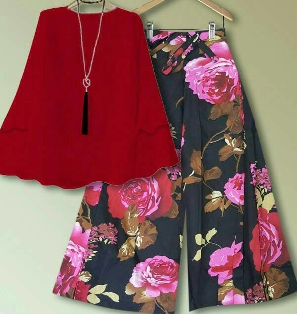 Gsd Setelan Baju Wanita Motif Bunga Set Flow Kulot Tosca Page 4 Source · BAJU Setelan