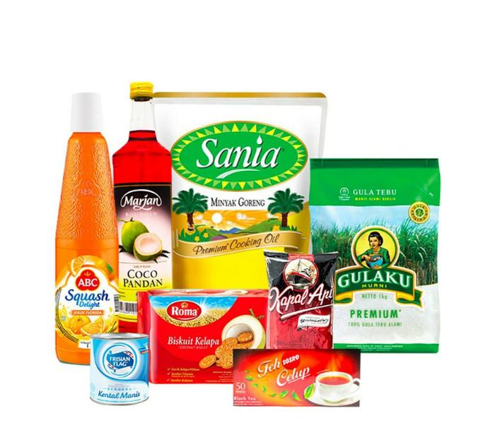 harga Paket sembako isi minyak gula sirup teh susu biskuit dan kopi Tokopedia.com