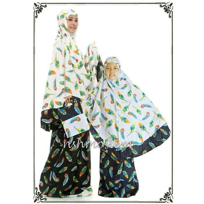harga Mukena couple ibu & anak motif phoenix Tokopedia.com